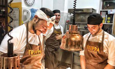 Il ristorante più gettonato dai cuochi di Milano? Trippa di Diego Rossi (nella foto) e Pietro Caroli