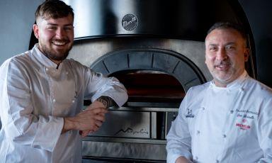 Davide Ruotolo e Lino Scarallo davanti al loro Neapolis Moretti Forni(foto di Giancarlo Rizzo)