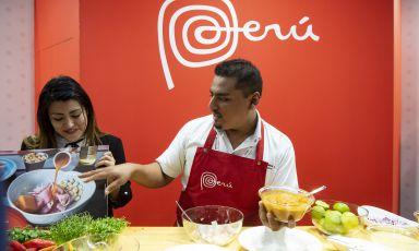 Fransua Robles Cerna, chef deLa Picantedi Lima, è stato uno dei protagonisti delle attività del Perù a Identità Golose