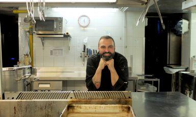 Lo chef Claudio Sordi, de I Carracci, ristorante del Grand Hotel Majestic di Bologna. Le foto sono di Tanio Liotta