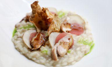 Riso, quaglia e topinambur: il piatto dell'autunno di Jumpei Kuroda