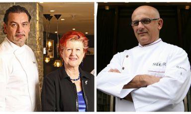 Enoteca Pinchiorri - nella foto a sinistra il primo chef Italo Bassi e l'executive chef Annie Féolde - e Claudio Sadler saranno i proitagonisti della serata di sabato prossimo, 25 luglio.È possibile prenotare (il costo è di 75 euro per quattro portate vini compresi) mandando una mail al seguente indirizzo: expo@magentabureau.it. Tel: +39.02.62012701