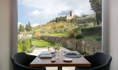 Emanuele Mazzella, alta cucina vista Assisi
