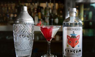 Uno dei 5 gin made in Sicily che vi raccontiamo: l'Etneum è un gin spiccatamente floreale creato da Giuseppe Librizzi