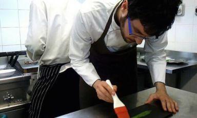 Fabrizio Ferrari, chef del Porticciolo 84 di Lecco, sarà protagonista di due pranzilunedì 8 e martedì 9 giugno. Costo: 75 euro per 4 pietanze vini compresi. Prenotazioni expo@magentabureau.it e+39.02.62012701