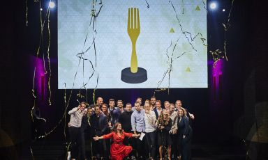 La prima premiazione deiTheFork Restaurants Awardsolandesi, ieri ad Amsterdam. Le foto sono di Rinze Vegelien