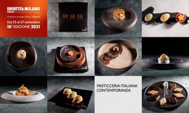 Alcune della creazioni dei sette pasticceri di Pasticceria Italiana Contemporanea