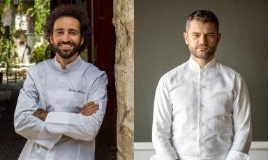 """Franco Aliberti ed Enrico Bartolini. Quest'ultimo, """"l'uomo delle stelle"""" in Italia, apre lunedì il suo settimo ristorante di fine dining nella Penisola, e ne affida i fuochi al primo. Ma c'è anche molto altro da dire..."""