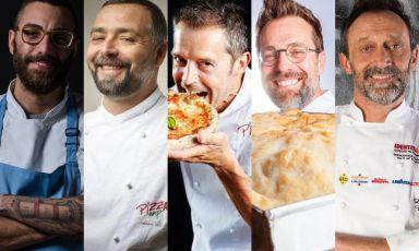Antonio Pappalardo, Tommaso Vatti, Massimo Giovannini, Renato Bosco e Lello Ravagnan: cinque maestri, altrettanti approcci al tema del delivery della pizza