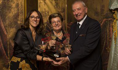 Mariella e Vittorio Moretti con la figlia Francesca