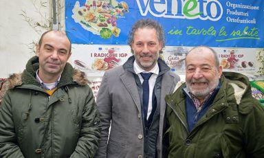 Francesco Arrigoni, Adriano Daminato e Sergio Tronchin, rispettivamente direttore, presidente e responsabile commerciale di OPO Veneto