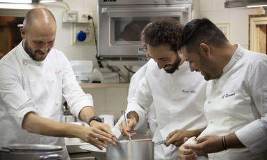Aliberti, Ravanà, Visciola: sfida a tre sulla zuppa di pesce
