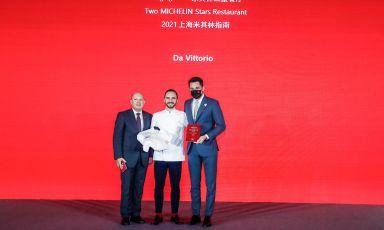 Lo chef del Da Vittorio Shanghai, Stefano Bacchelli, premiato con la seconda stella