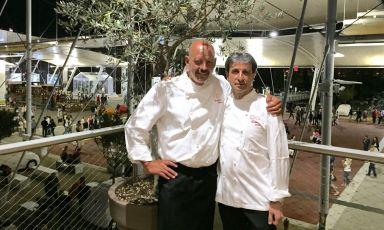 """Gianfranco Pascucci e Sandro Serva sono stati gli chef protagonisti della seconda serata diA tavola con le stelle del Lazio,a Identità Expo S.Pellegrino. Il tema era:""""Un tuffo dove l'acqua è più blu"""""""