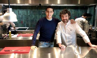 Josef Khattabi e Federico Sisti, imprenditore e chef del neonato Frangente, ristorante in via Panfilo Castaldi 4 a Milano
