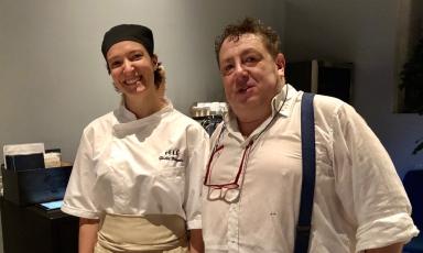 Giulia Ferrara e Sergio Sbizzera, cuoca e titolare del ristorante Beléin via Fumagalli 3 a Milano, telefono+39.02.36642933
