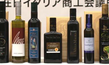 Alcune delle bottiglie (quasi tutte italiane) prot