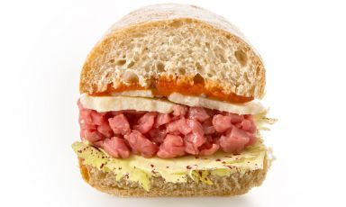 Grana sandwich from La Farcia, with seven branches in Piedmont, in Asti, Alessandria, Biella, Cuneo and Torino