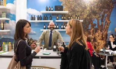 Il corner diBarbera, azienda di olio extravergine aCustonaci,Trapani, uno dei tanti protagonisti dell'area espositiva di Identità Milano 2019