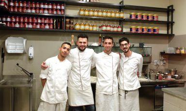 Il team di Lievità in via Sottocorno, a Milano: J