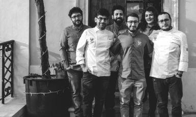 Il team diLiLoLibero Locale, nel centro storico di Sala Consilina (Salerno)