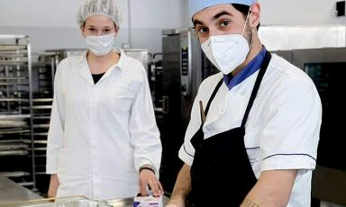 Lorenzo Dal Bo and nutritionist Olimpia Ventura Mo