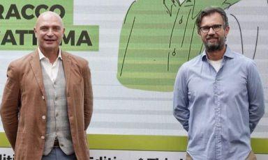 L'enologo Luca D'Attoma e lo chef Carlo Cracco