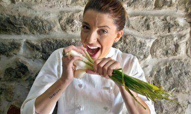 Maria Rosaria Stellato, chef e titolare del ristorante AnimaMia a Cecchina sui Castelli Romani. La foto è di Andrea Capuani
