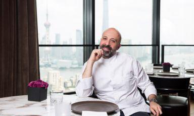 Niko Romitocon vista panoramica nel suo Il Ristorante - Niko Romito del Bulgari Hotel di Shanghai