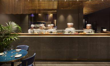 Il bancone del Nishiki, ristorante giapponese gest