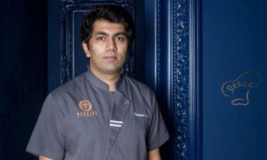 Himanshu Saini, 34 anni, indiano di New Delhi, chefdiTrèsind Studio, fine dining indiano a Dubai