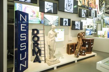 Un dettaglio della galleria L'Atelier nel Museo Lavazza (fotoAndrea Guermani)