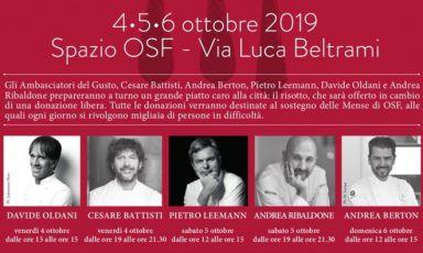 Cinque chef uniti per sostenereOpera San Francesco
