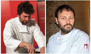 Matias Perdomo, left, and Ugo Alciati are to launch Identità Expo's Sunday lunches. Every week, we will present a unique menu, the result of the meeting of two great cuisine professionals, one from Italy, one from abroad