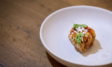 Animella, mostarda di Cremona e rafano:il piatto della rinascita di Ciro Scamardella (tutte le foto sono diFrancesco Biondi)