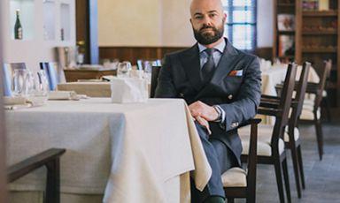 Piero Pompili, classe 1975, è restaurant manager de Al Cambio, a Bologna