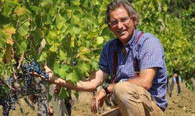 Il principe Francesco Spadafora nelle vigne