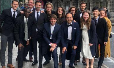 Rene Redzepi e una parte delteam del Nomadi Copenhagen, proclamato ad Anversa (Belgio) miglior ristorante del mondo per la World's 50 Best 2021(foto instagram)