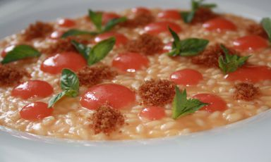 A fantastic risotto-version of ham and melon