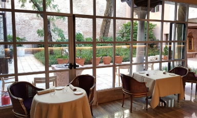A glimpse of Glam, the restaurant inside Palazzo V