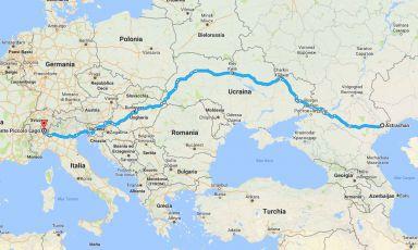 Astrakhan-Piccolo Lago: il viaggio felice di uno storione (e del suo caviale)