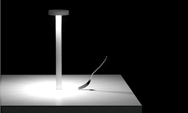 Tetatet(2013)byDavide Groppi, a lamp that revolutionised the concept of light in restaurants. «A portable lamp to transform every table in a place of meeting and love, and consider light, at last, as an essential ingredient in life. It's the most beautiful light in the world. It makes everything deeper and more real. It's the light that makes us feel unique around a table»