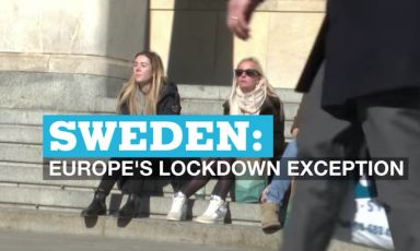 "An image taken from France24's piece on the ""Swedish exception"""
