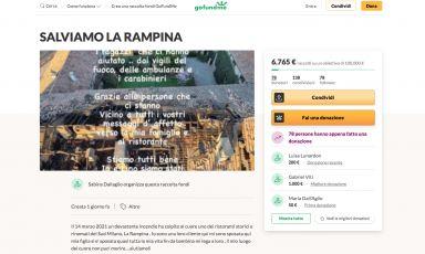 Raccolta fondi per aiutare La Rampina devastata da un incendio. Danni ingenti «ma vogliamo ripartire»