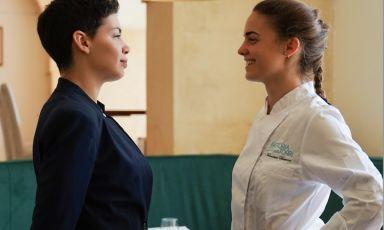 Carla e Francesca Barone, figlie dello chef Peppe Barone, al comando rispettivamente di sala e cucina nel ristorante Fattoria delle Torri a Modica (Ragusa)