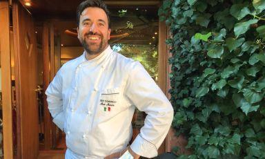 Lochef Massimiliano Mascia del ristorante San Domenico di Imola, due stelle Michelin