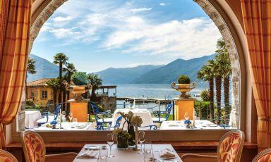 Il ristorante La Brezza ad Ascona nel Canton Ticino: è la cornice della cucina dello chef di origini pugliesi, Marco Campanella