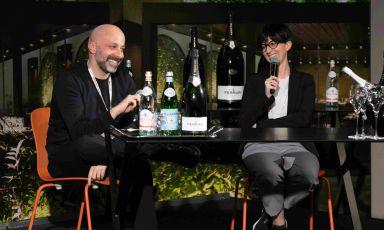 Il sorriso di Cristiana e Niko Romito, sul palco di Identità di Sala 2019, realizzato in collaborazione con Cantine Ferrari(tutte le foto Brambilla / Serrani)