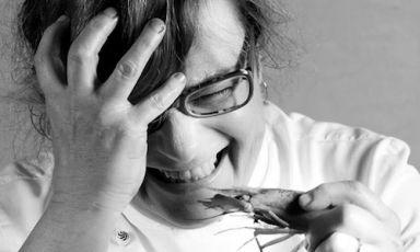Serenella Medone, chef of restaurant Al Solito Postoin Bogliasco (Genoa), in the portrait byLido Vannucchi
