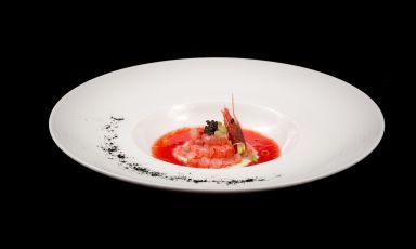 Crudo di gambero rosso con stracciatella di burrata al pepe nero: la ricetta della rinascita di Giovanni Santoro